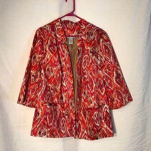 Catherines Plus Size 1X Jacket Pink Orange 733